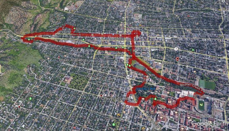 Boulder Walk Map